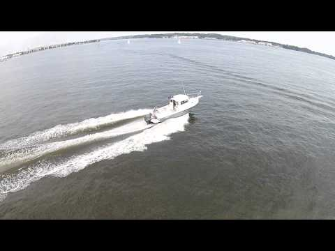 Brand new parker boat leaving eastport yacht club