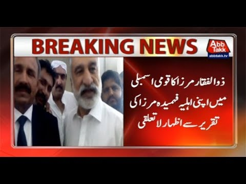 Zulfiqar Mirza Dissociates Himself From Fehmida's Statement