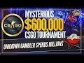 CSGO Gambler Spends $2.4 Million! Ex-100 Thieves kNg Made His Own Team and FaZe Handed Easy Money!