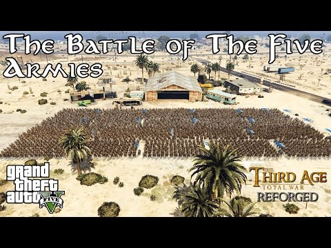 GTA V - EPIC Battle of The Five Armies! (The Hobbit)