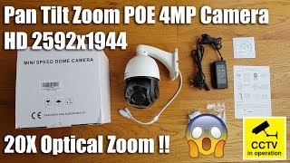 Anpviz PTZ IP Security Camera, H.265 4MP PoE IP Dome Camera, HD 2592x1944 Pan Tilt 20x Optical Zoom