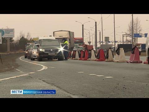 На границах Вологды образовались многокилометровые пробки из-за санитарных КПП