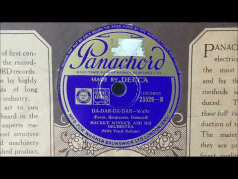 "Maurice Winnick and His Orchestra (v. Sam Browne) - ""Da-Dar-Da-Dar"" (1933)"