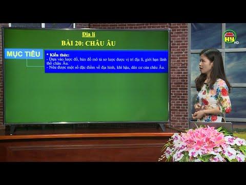 Dạy học truyền hình: Môn Địa lí lớp 5, bài 2