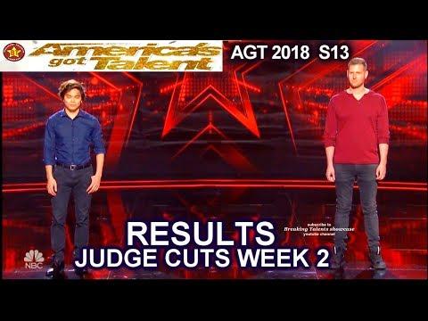 RESULTS JUDGE CUTS Week 2 Who Advanced to Live Show? America's Got Talent 2018 Judge Cuts AGT