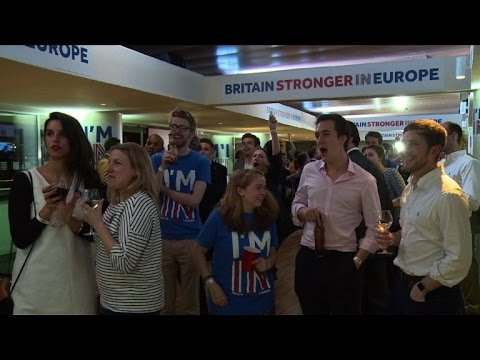 Cheers at Remain camp as first results come in