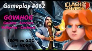 GOVAHOG - Clash of Clans - Attaque sur HDV9 100% Gameplay #062
