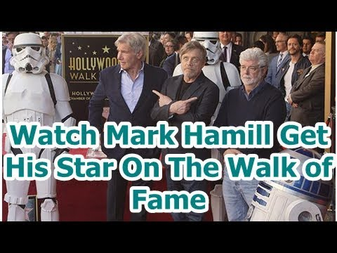 Watch Mark Hamill Get His Star On The Walk of Fame