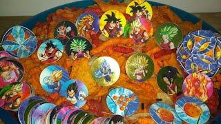 Abriendo Doritos/Cheetos/Sabritas/Ruffles con tazos y xferas Dragon Ball Súper