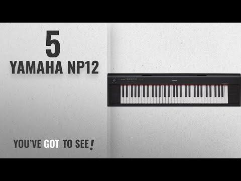 Top 10 Yamaha Np12 [2018]: Yamaha NP12 61-Key Lightweight Portable Keyboard, Black (power adapter