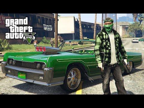 GTA 5 Real Life Thug Mod #34 - FRANKLIN'S LOWRIDER!! (GTA 5 Mods)