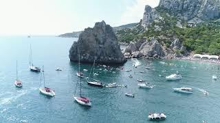 Съемка Кубка мира по клифф-дайвингу Crimea Cliff Diving World Cup с коптера