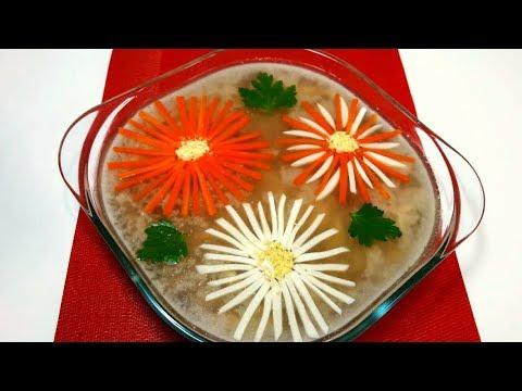 Домашний Холодец (Холодное) на Праздничный Стол Очень Вкусный и Прозрачный Простой Рецепт Холодца