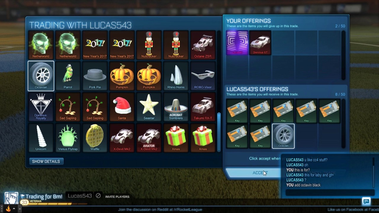 Rocket League- Trading My Mystery Decal!!! Good trade ...