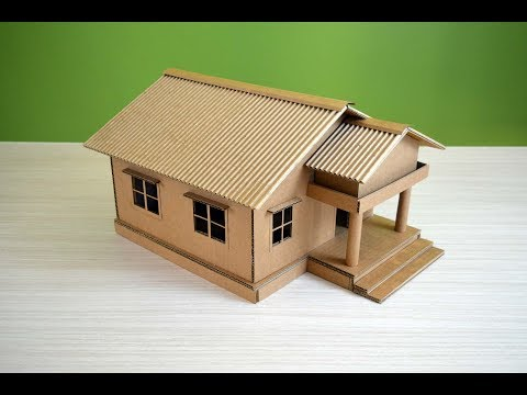 make-a-beautiful-house-from-cardboard---simple-diy
