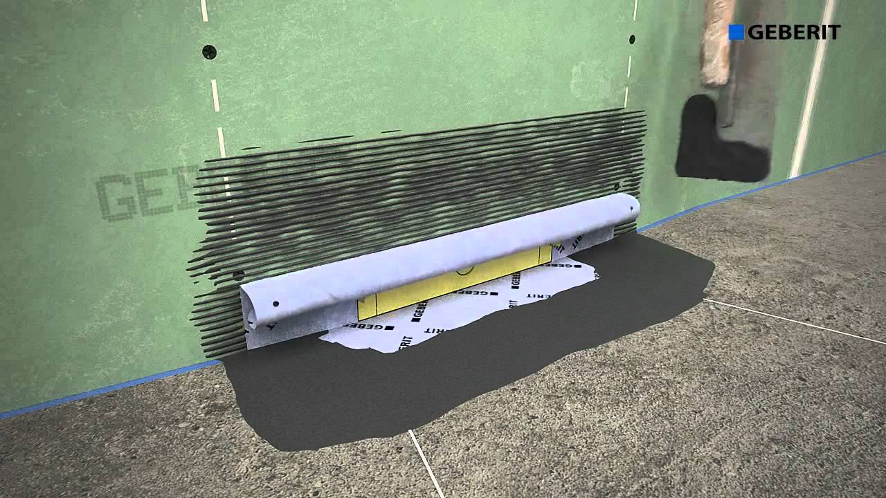 Geberit wall drainage duofix installation youtube Geberit drains