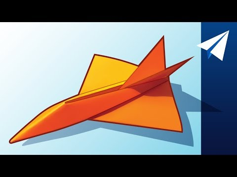 FLIES OVER 100 FEET! — How to Make a Jet Paper Airplane | Diamondback, Designed by Jayson Merill