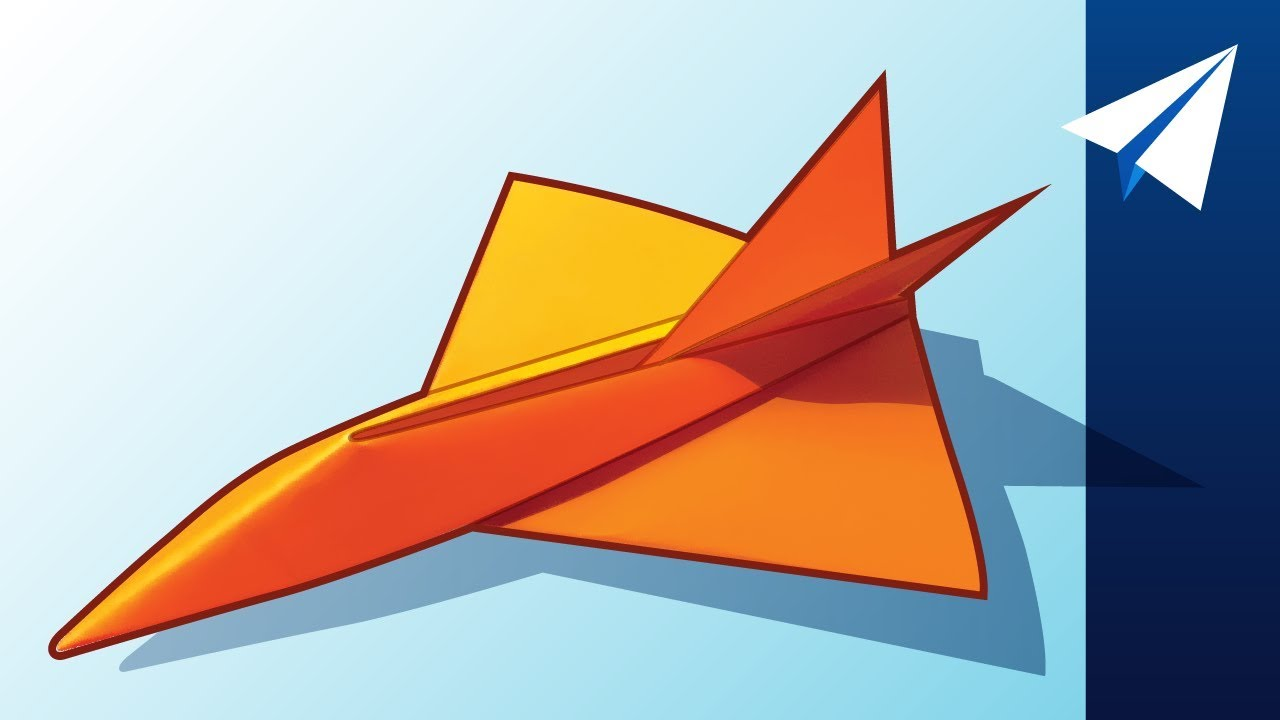 Flies Over 100 Feet How To Make A Jet Paper Airplane Diamondback Designed By Jayson Merill Youtube