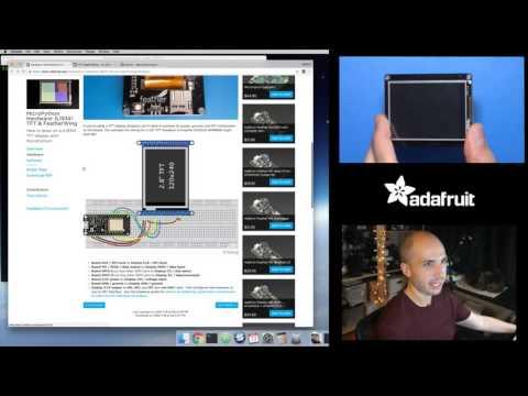 MicroPython Hardware: ILI9341 TFT & FeatherWing with Tony D! @micropython