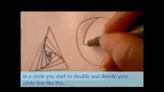 How to draw tanglepattern Paradox (in a square, triangle, circle and organic shape)