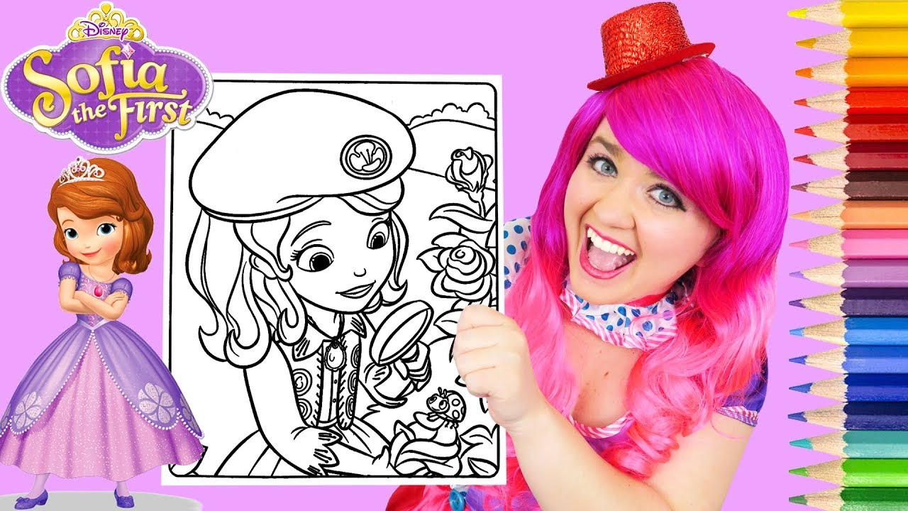 Coloring Sofia the First Buttercup Scout Coloring Page Prismacolor ...