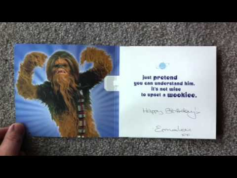 Chewbacca Birthday Card Youtube
