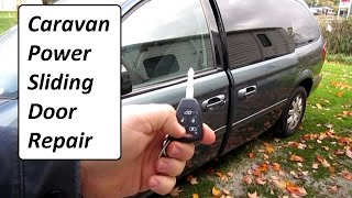 Caravan power sliding door Repair EASY