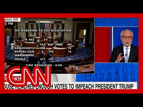 See moment Trump got impeached for second time