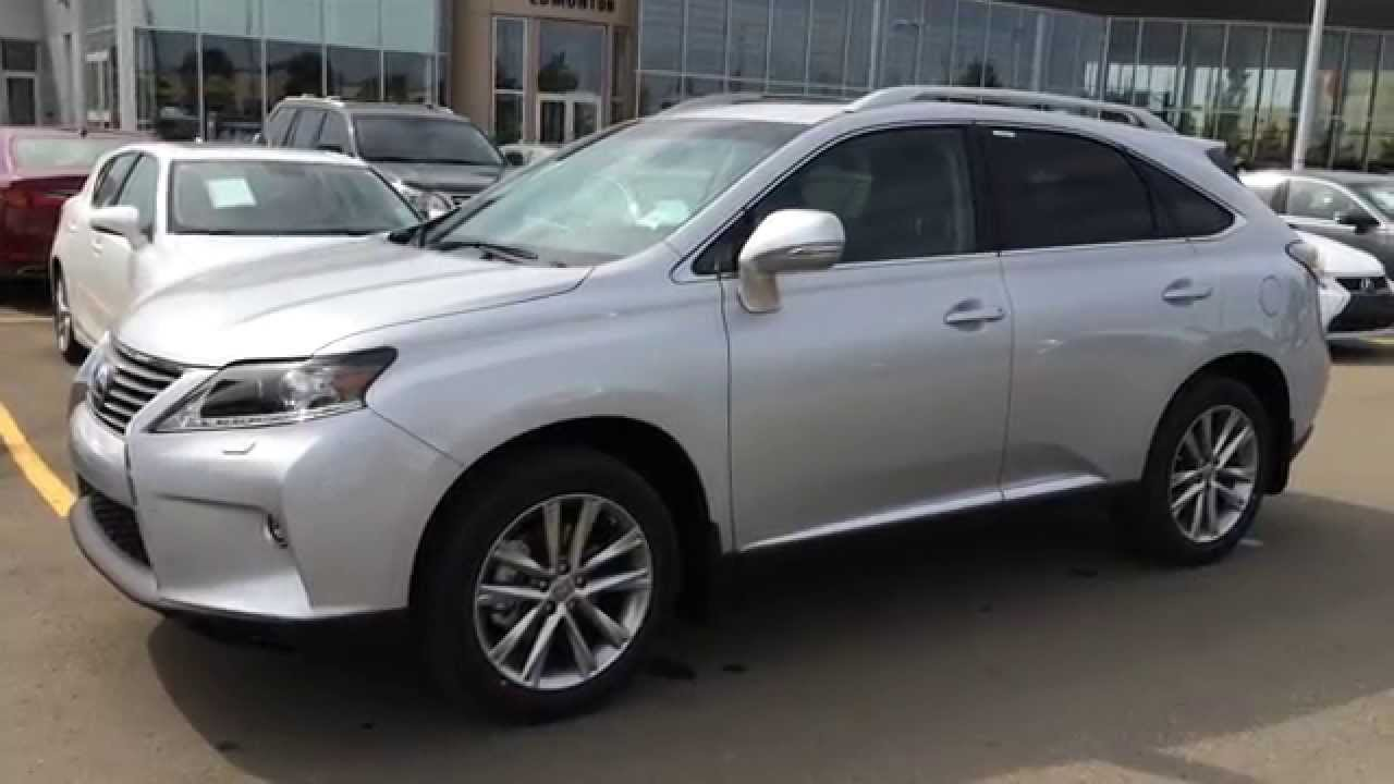 2015 lexus rx 350 awd sportdesign edition review silver on black edmonton ab youtube. Black Bedroom Furniture Sets. Home Design Ideas