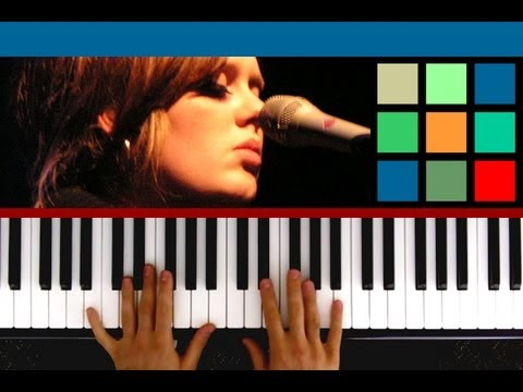 """""""Someone Like You"""" by Adele - Piano Tutorial"""