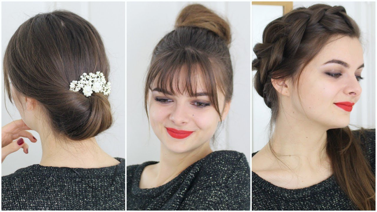 No Heat Hair Styles: Easy No Heat Hairstyles For Christmas