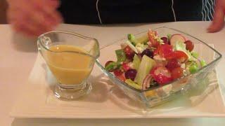 Фермерский салат с медово горчичным соусом