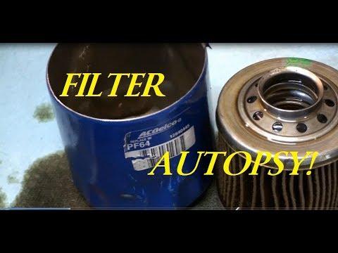 C7 Corvette OIL FILTER the 500 mile filter autopsy