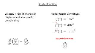 MCV4U/Grade 12 Calculus & Vectors - 3.1 - Higher Order Derivatives & Velocity & Acceleration