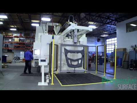 Robotic Grit Blast Machine for Carbon Composite Structures - Progressive Surface