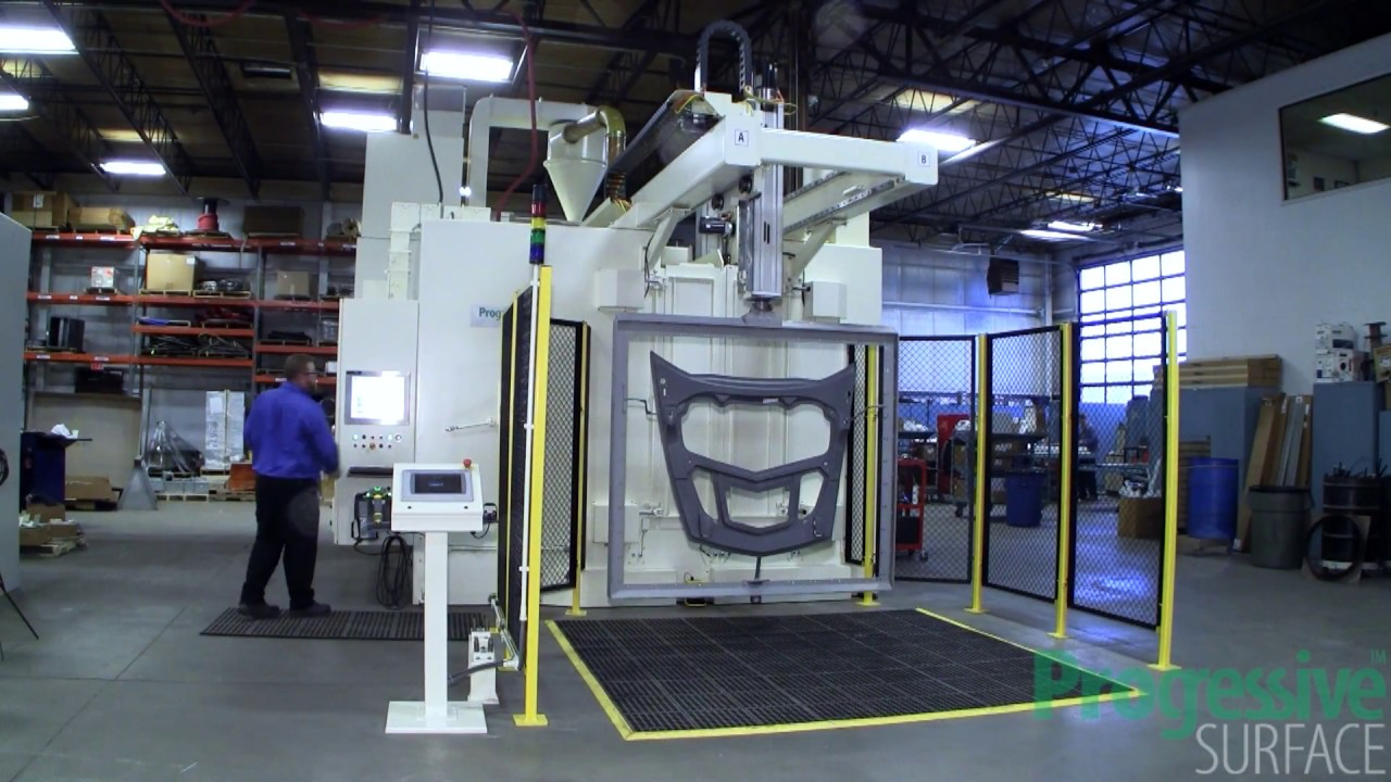 Robotic Grit Blast Machine for Carbon Composite Structures