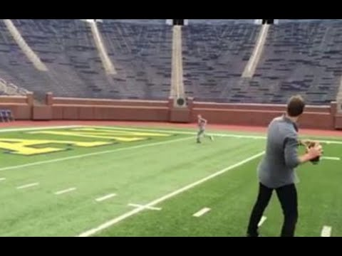 Tom Brady Connects with Son on TD Pass at the Big House & Dab Celebration