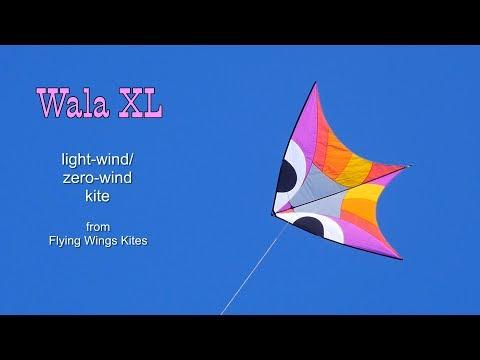 Wala XL light-wind/zero wind kite - first flight