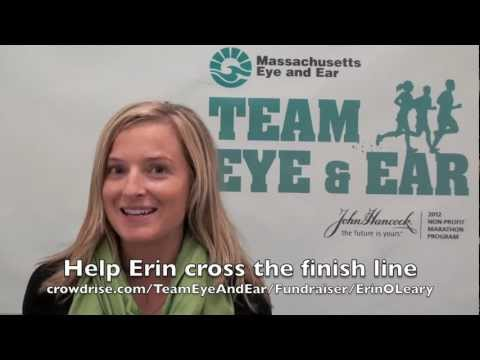 Why I Run for Mass. Eye and Ear- Erin O'Leary- Boston Marath