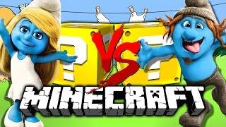 Minecraft: SMURF LUCKY BLOCK CHALLENGE | DON