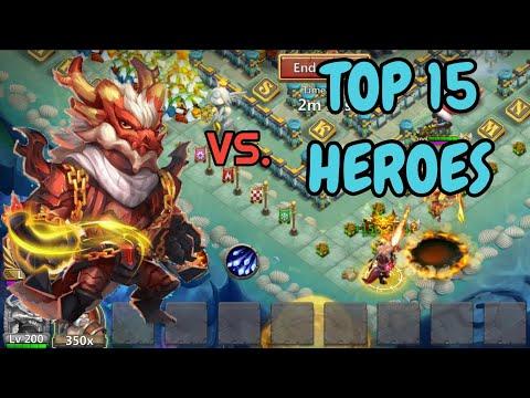 Landwalker VS Top 15 Heroes L Castle Clash
