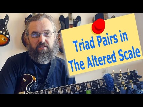 Triad pairs in the altered scale