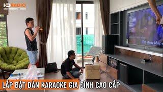 Lắp Đặt Bộ Dàn Karaoke Gia Đình Cao Cấp Anh Chiến Ở Hoài Đức, Hà Nội