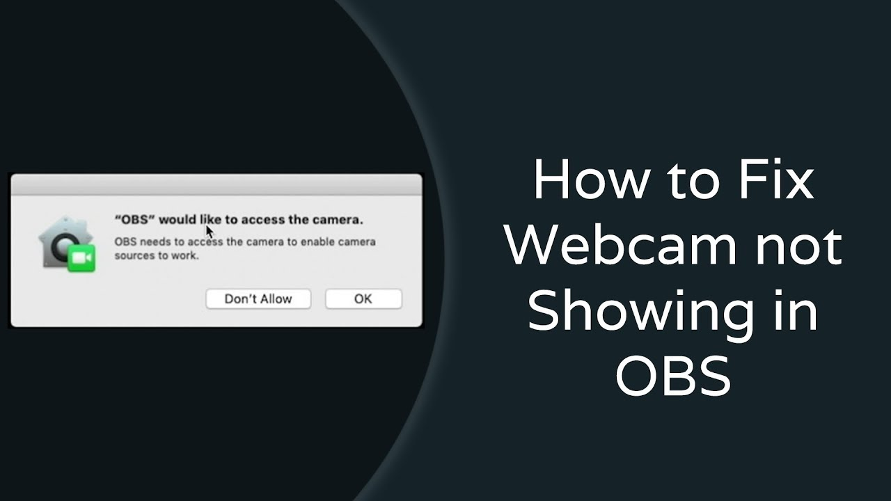 How to Fix Webcam not Showing in OBS (Mac OS | MacOS | Mac | OSX)