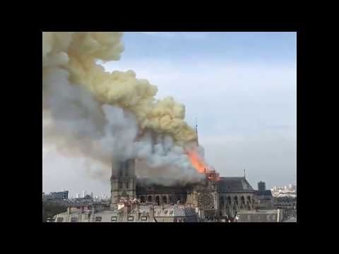 Fire breaks out at Notre Dame cathedral in Paris   ABC News