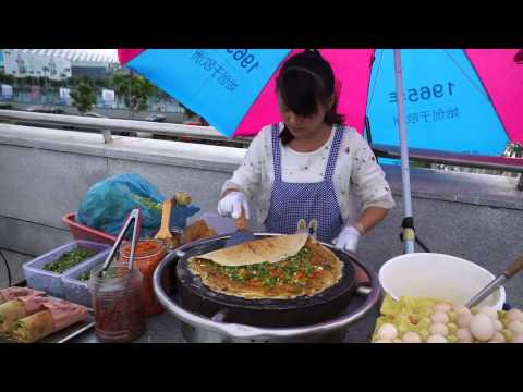 Chinese Crepe Vendor in Shenzhen