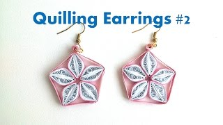 How to make Simple Quilling Earrings Using Paper Quilling #2 -Creative Paper
