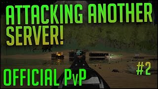 ATTACKING ANOTHER SERVER! | Official PvP Server | Episode 2 | ARK Survival Evolved Let's Play