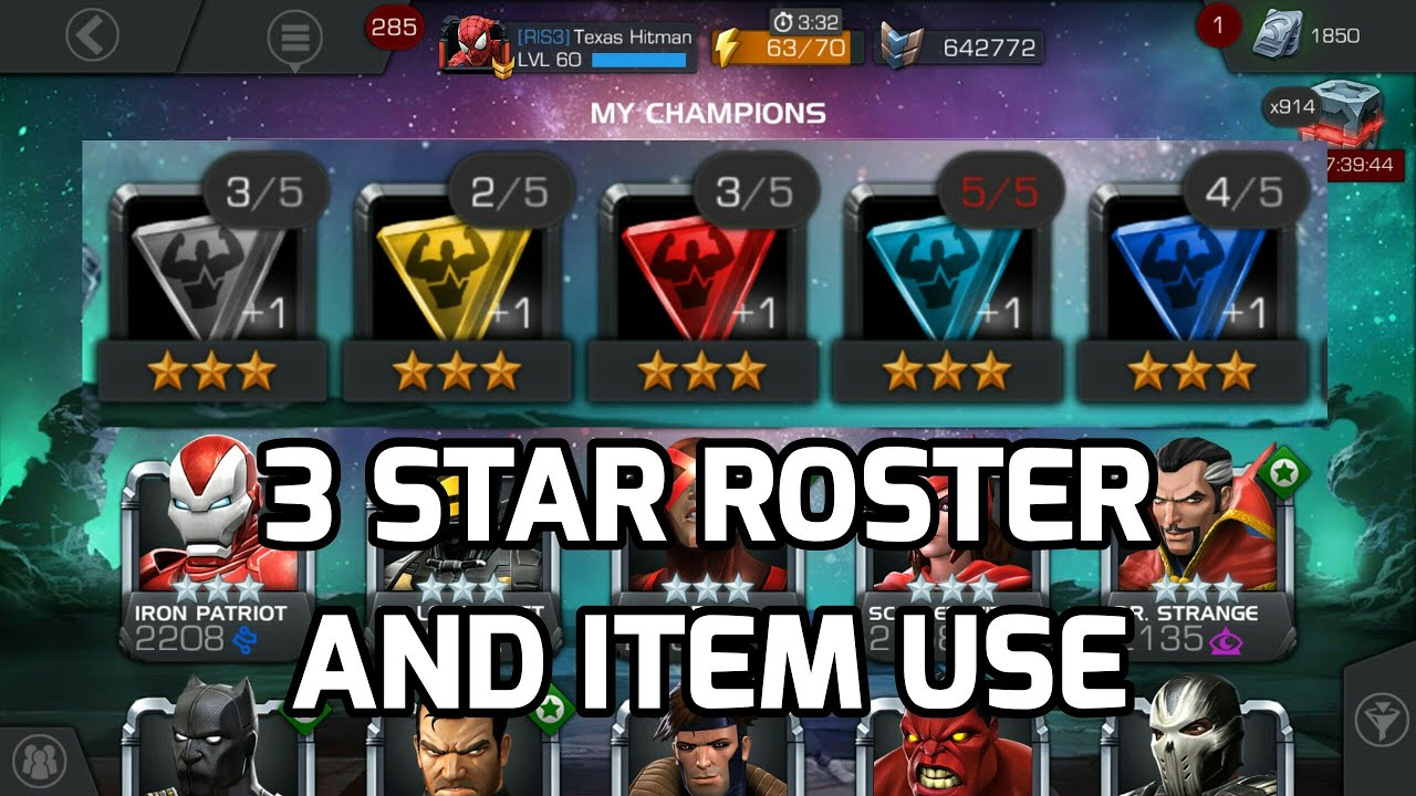 3 Star Roster Awakening Marvel Contest of Champions