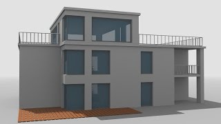 Blender 2.7 Architecture tutorial Animation Modifier Solidify Boolean Array